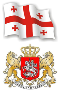 Флаг и герб Грузии